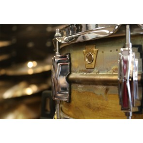 Ludwig 5x14 Raw Brass Phonic Snare Drum w/ Imperial Lugs