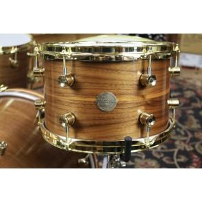 """Doc Sweeney """"Chocolate"""" Steam Bent Walnut Drum kit - 14x20, 14x14, 8x12, 6x14"""