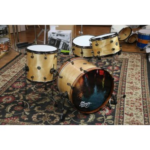"Doc Sweeney ""Birch Rainbow"" 4-Piece Steam-Bent Birch Shell Pack. 14x20, 14x14, 8x12, 6x14 Snare"