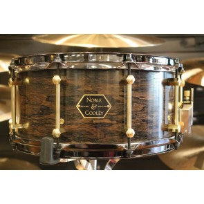 Noble & Cooley Limited Edition 6.5x14 6 ply Chestnut Snare Drum with Natural Ziricote Outer Ply