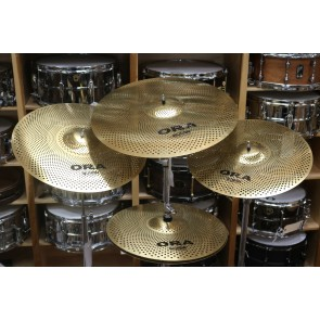 Wuhan Silent Practice Cymbals - ORA Series Outward Reduced Audio Box Set 14HH, 16CR, 18CR, 20RI