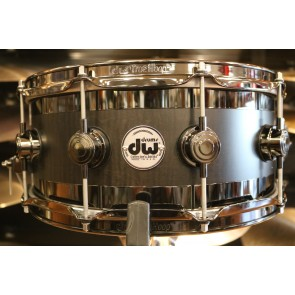 DW Collector's Series B-Stock  6x14 Edge Snare Drum in Ebony Satin Oil w/ Black Nickel Hardware
