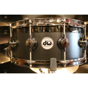 DW Collector's Series B-Stock 6x14 Top Edge Snare Drum in Ebony Satin Oil w/ Black Nickel Hardware