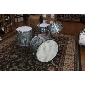 Sky Blue Pearl Vintage Camco Set. 12,14,20,Matcing Snare.  Tuxedo Lugs, Beer Tap Throw, VGC