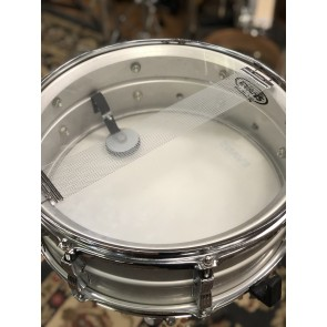 Used Ludwig Acrolite 5x14 Snare Drum w/ Blue and Olive Badge