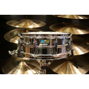 Used Ludwig 5X14 Super Sensitive, Blue & Olive Badge w/Case