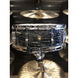 B- Stock Ludwig 5.5x14 Jazz Festival Snare Drum, Legacy Mahogany Shell in Vintage Black Oyster