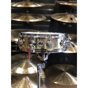 DW *Factory B-Stock* Collector's series 4x14 Polished Brass Snare Drum