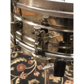 Vintage Leedy 5x14 Nickle over Brass Snare Drum