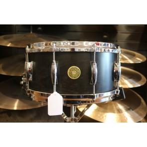 "Gretsch Ebony Satin Lacquer 6.5"" x 14"" Millennium Maple Snare Drum"