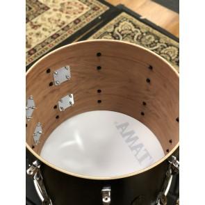 Tama 14x18 Open Box Birch/Bubinga Marching Bass Drum in Satin Black Finish