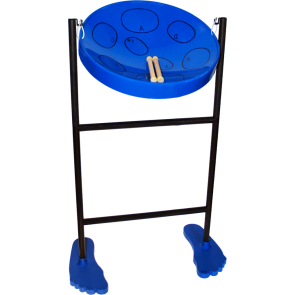 Jumbie Jam Steel Drum  Kit withTube Floor Stand w/ Fun Feet - Blue Pan