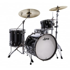 Ludwig Neusonic 3 piece in Black Cortex 8x12, 16x16, 16x22