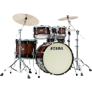TAMA SLP Dynamic Kapur 4-piece shell pack Gloss Black Kapur Burst