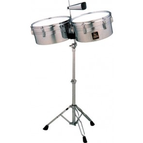 "Latin Percussion Aspire 13"" and 14"" Chrome Timbales"
