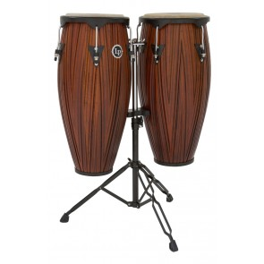 LP City Series Conga Set with Stand, Carved Mango Wood