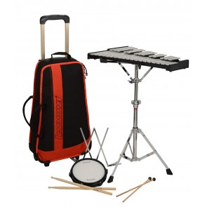 MUSSER Bell and Practice Pad Kit with Rolling case
