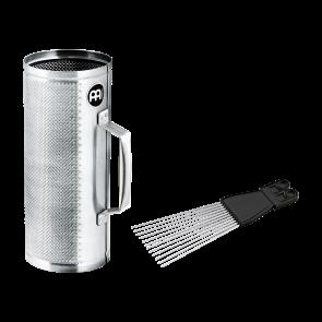 Meinl Brushed Steel Merengue Güira incl. MGS2 Scraper