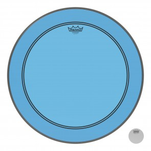 "Remo 22"" Powerstroke P3 Colortone Blue Bass Drumhead"