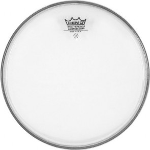 "Remo 14"" Clear Ambassador Batter Drumhead"