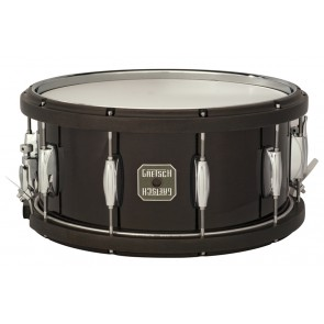 Gretsch 6.5X14 Maple With Wood Hoops Black Snare Drum