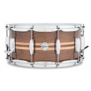 Gretsch 6.5X14 Walnut with Maple Inlay Snare Drum