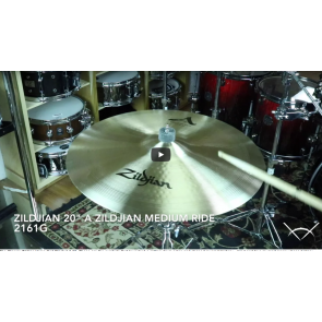 "Zildjian 20"" A Zildjian Medium Ride-Demo of Exact Cymbal-2161g"