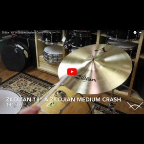 """Zildjian 18"""" A Zildjian Medium Crash-Demo of Exact Cymbal-1413g A0242"""