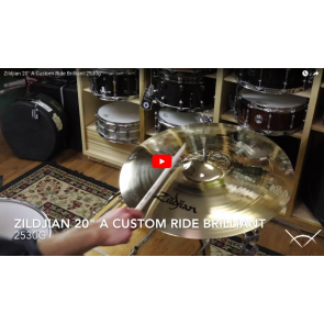 "Zildjian 20"" A Custom Ride Brilliant-Demo of Exact Cymbal-2530g A20518"