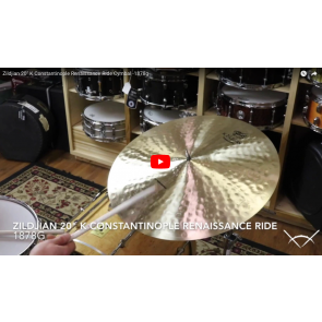 "Zildjian 20"" K Constantinople Renaissance Ride Cymbal - Demo of Exact Cymbal - 1878g K1118"