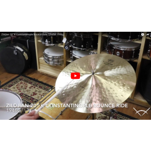 "Zildjian 20"" K Constantinople Bounce Ride Cymbal - Demo of Exact Cymbal - 1946g K1060"