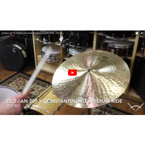 "Zildjian 20"" K Zildjian Constantinople Medium Ride - Demo of Exact Cymbal - 2074g K1016"