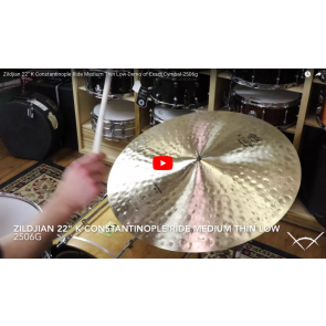 "Zildjian 22"" K Constantinople Ride Medium Thin Low-Demo of Exact Cymbal-2506g K1119"