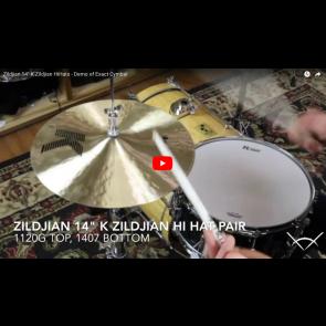 """Zildjian 14"""" K Zildjian HiHats - Demo of Exact Cymbal -  K0823"""