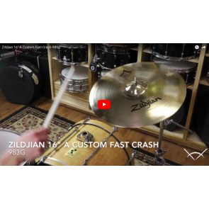 "Zildjian 16"" A Custom Fast Crash-Demo of Exact Cymbal-983g  A20532"