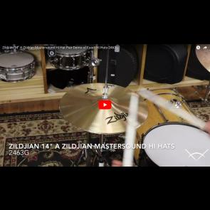 """Zildjian 14"""" A Zildjian Mastersound Hi Hat Pair-Demo of Exact Hi Hats-2463g A0123"""
