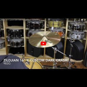 "Zildjian 16"" K Custom Dark Crash-Demo of Exact Cymbal-983g K0951"