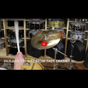 """Zildjian 15"""" A Custom Fast Crash-Demo of Exact Cymbal-807g A20531"""