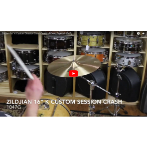 "Zildjian 16"" K Custom Session Crash-Demo of Exact Cymbal-1047g K0990"