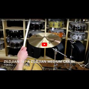 """Zildjian 16"""" A Zildjian Medium Crash-Demo of Exact Cymbal-1065g A0240"""