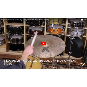 "Zildjian 21"" K Custom Special Dry Ride Cymbal-Demo of Exact Cymbal-2476g K1426"