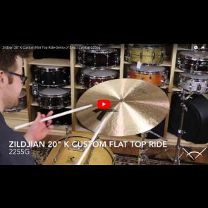 """Zildjian 20"""" K Custom Flat Top Ride-Demo of Exact Cymbal-2255g K0882"""