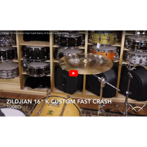 "Zildjian 16"" K Custom Fast Crash-Demo of Exact Cymbal-1006g K0982"