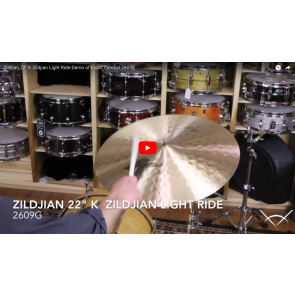 "Zildjian 22"" K  Zildjian Light Ride-Demo of Exact Cymbal-2609g K0832"
