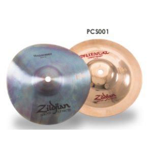 "Zildjian 8"" Stack Combo with FX Trashformer (top) and FX Oriental China ""Trash"" (bottom)"