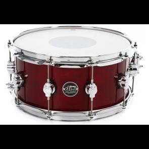 DW Design Snare 6.5x14 Crimson Satin Metallic