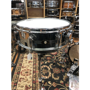 Used Vintage Slingerland 5X14 Sound King, Gene Krupa Model, Chrome over Brass