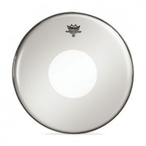 "Remo 14"" Smooth White Controlled Sound Batter Drumhead w/ Black Dot On Top"