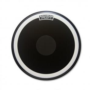 Aquarian 24'' Super Kick III Black Coated w/ Power Dot Bass Drumhead