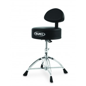 Mapex Round Top Drum Throne with Back Rest and with 4 Legs Double Braced